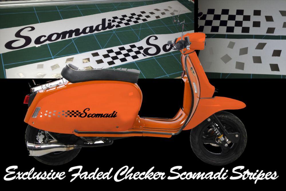 Scomadi Tl125 Tl50 Side Panel Stripe Sticker Kit Fade